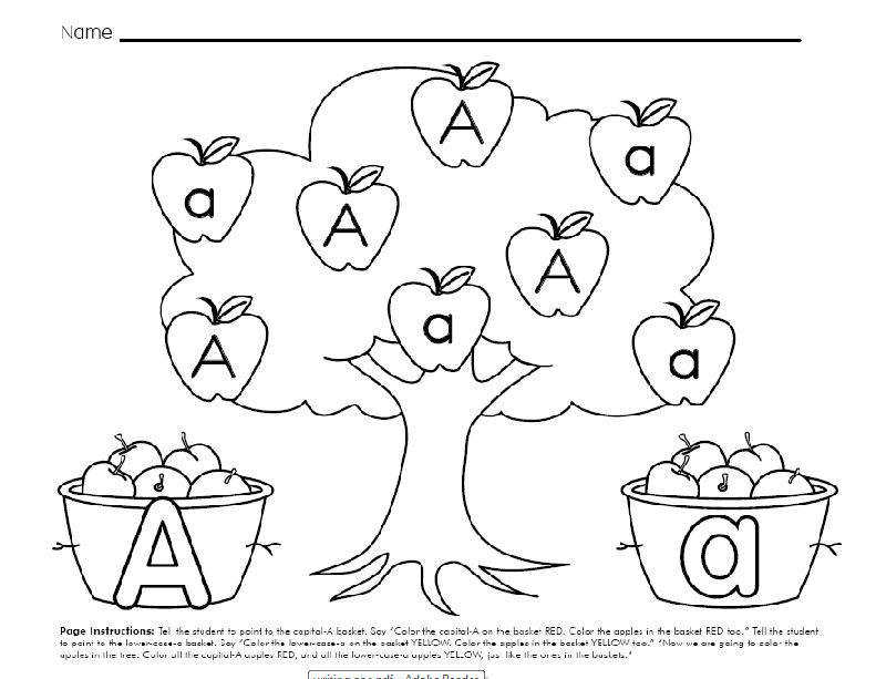 Letter A Worksheets Kindergarten Samsungblueearth