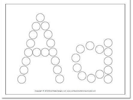 here to the A Z Do a dot Worksheets –