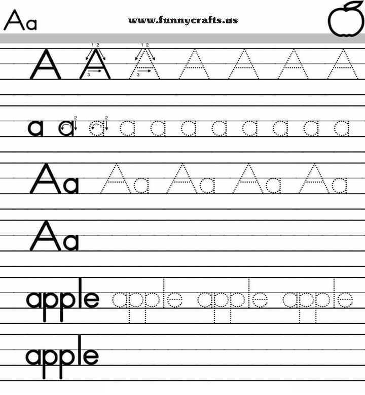 Alphabet handwriting worksheets A to Z for preschool to first grade letter a handwriting worksheets for preschool to first grade