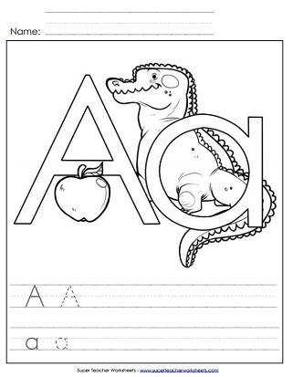 Printable Alphabet Worksheets Letter A