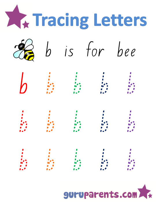Alphabet Worksheet Handwriting Lower case Letter b