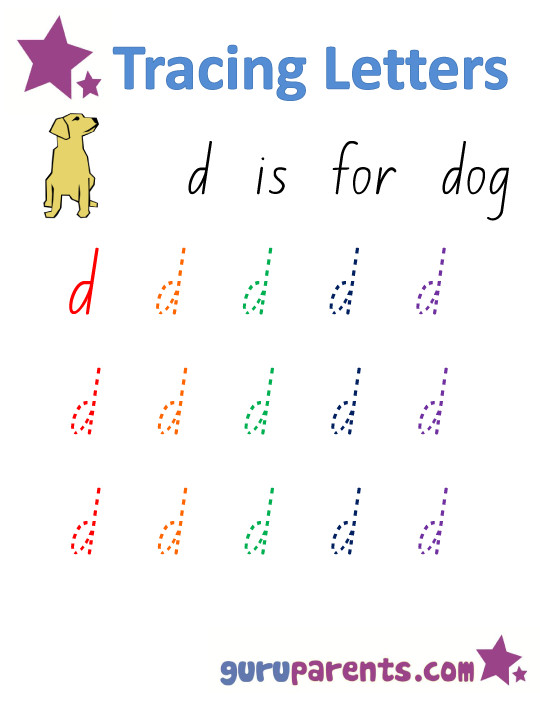 Alphabet Worksheet Handwriting Lowercase Letter d
