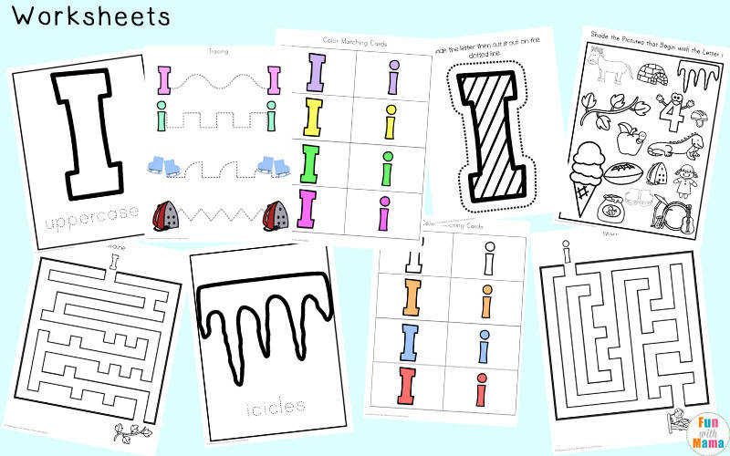 letter i worksheets for preschool