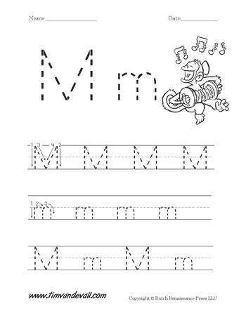 Letter M Worksheet Printable 350