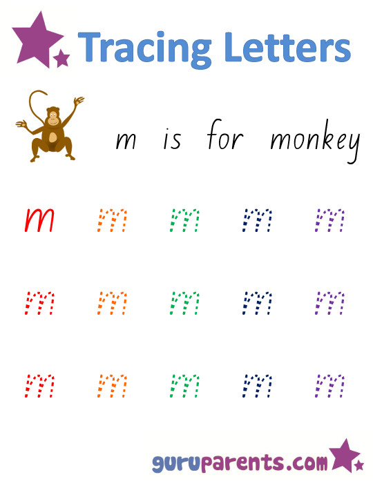 Alphabet Worksheet Handwriting Lowercase Letter M