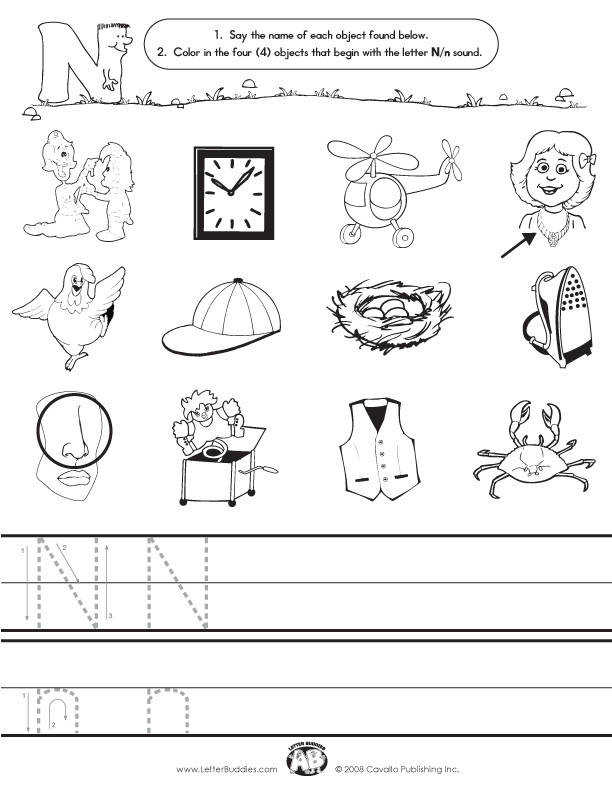 Letter N Worksheets Homeschooldressage