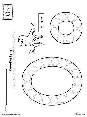 Letter O Do A Dot Worksheet