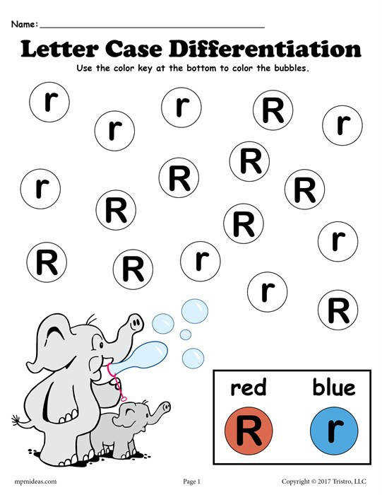 FREE Letter R Do A Dot Printables For Letter Case Differentiation Practice