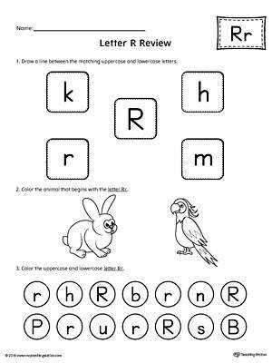 All About Letter R Printable Worksheet