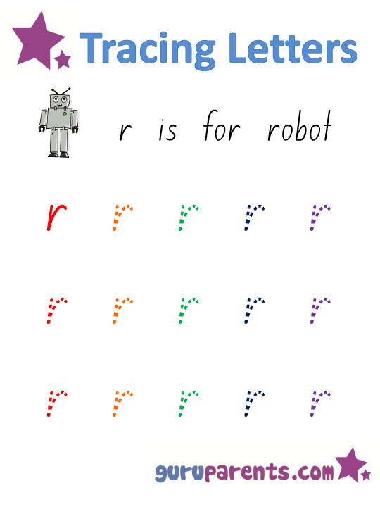 Alphabet Worksheet Handwriting Lowercase Letter r