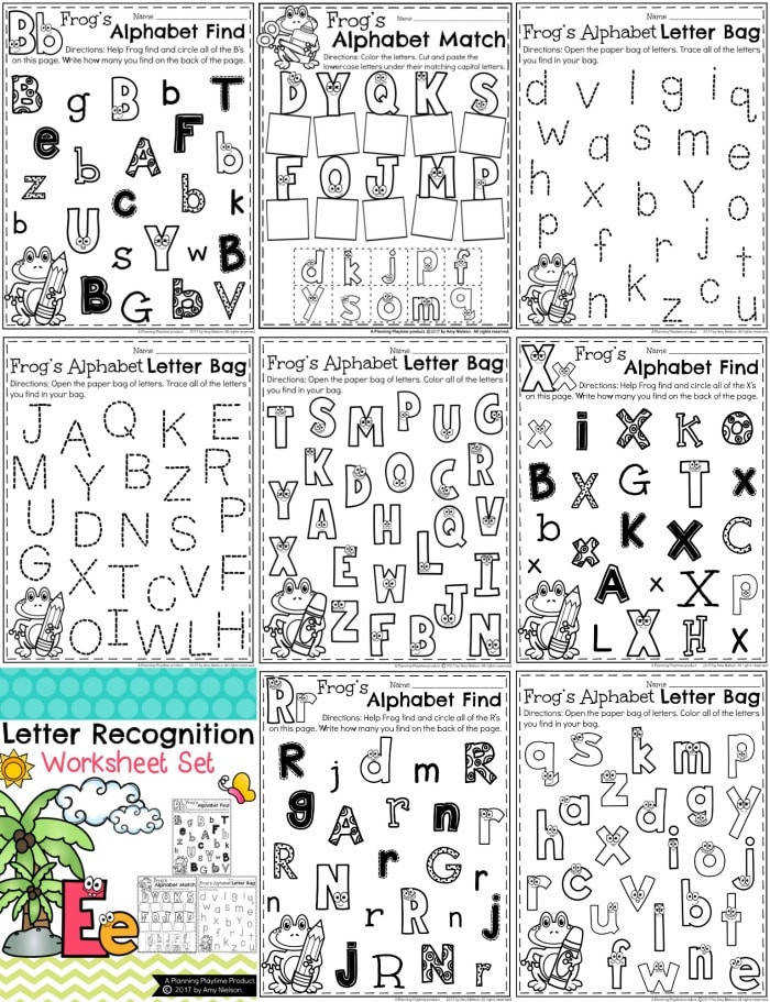 Letter Recognition Worksheets Preview