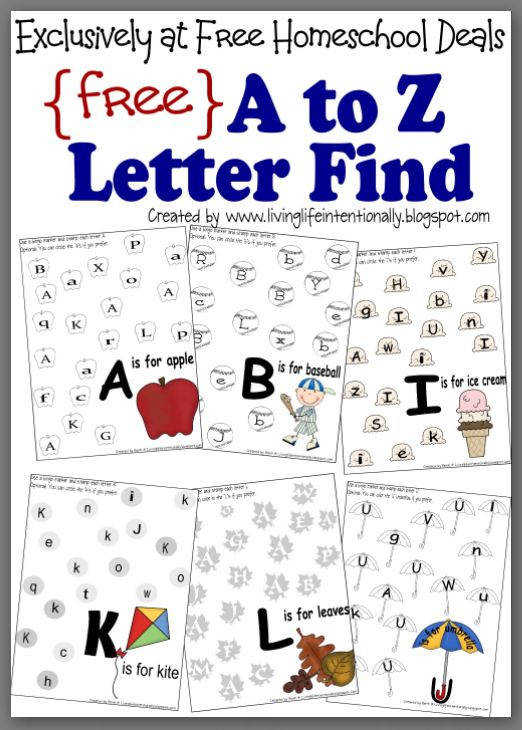 Free Homeschool Worksheets Looking for some letter recognition