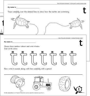 Letter t worksheets SB425 SparkleBox