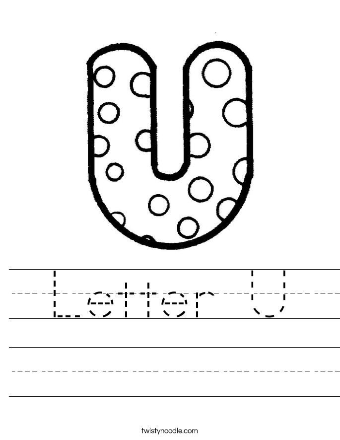 Letter U Handwriting Sheet