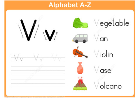 to see printable version of Letter V Tracing Worksheet Puzzle game