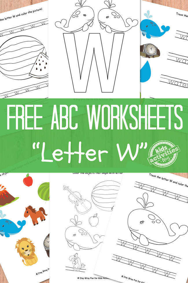 Letter W Worksheets