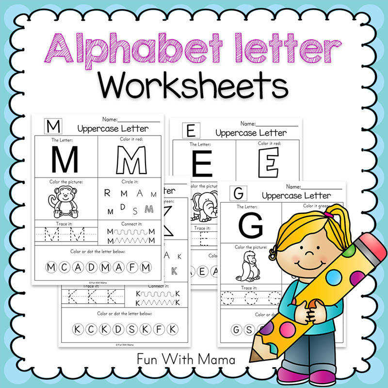 printable alphabet letter worksheets