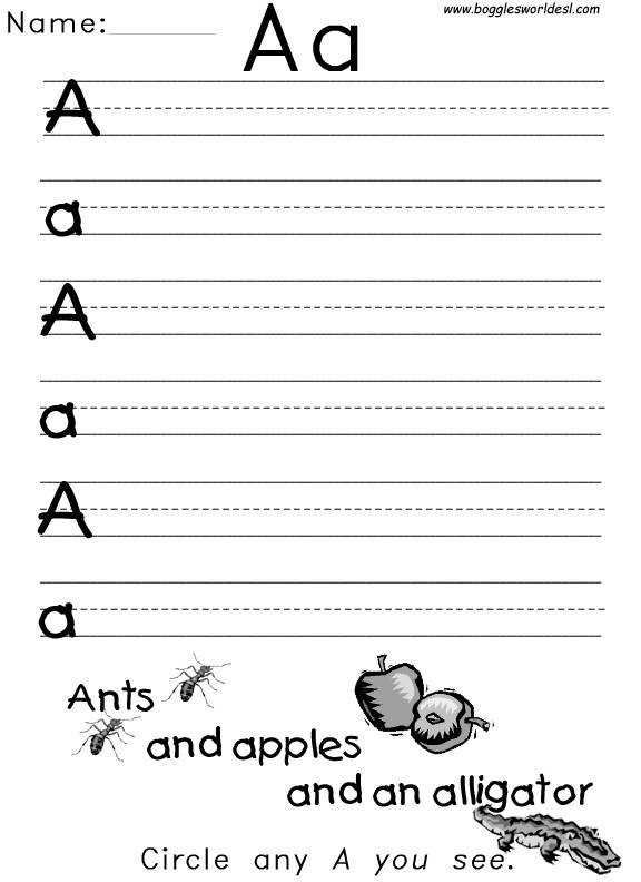 There are tons of alphabet worksheets on the net I actually learned that after teaching