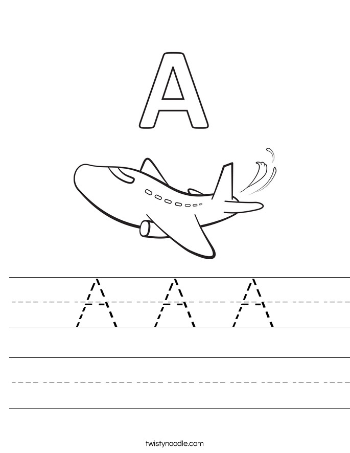 Letter Worksheets A A A Handwriting Sheet