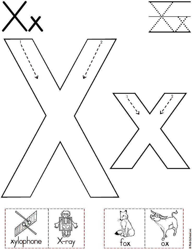 letter x worksheets for alphabet practice
