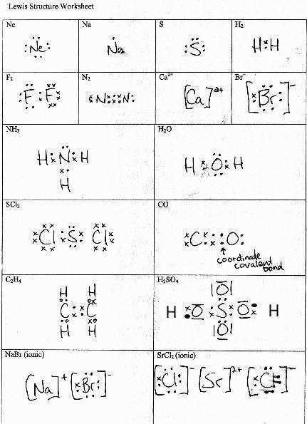 Vsepr Practice Worksheet Templates and Worksheets · Covalent Bonding and Lewis Structures