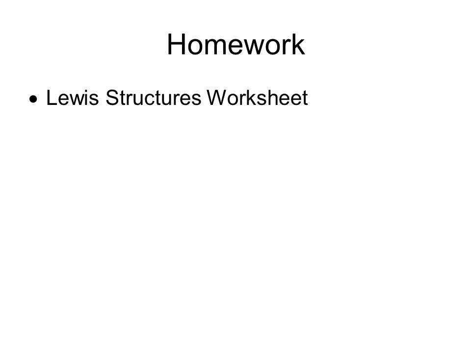 26 Homework Lewis Structures Worksheet