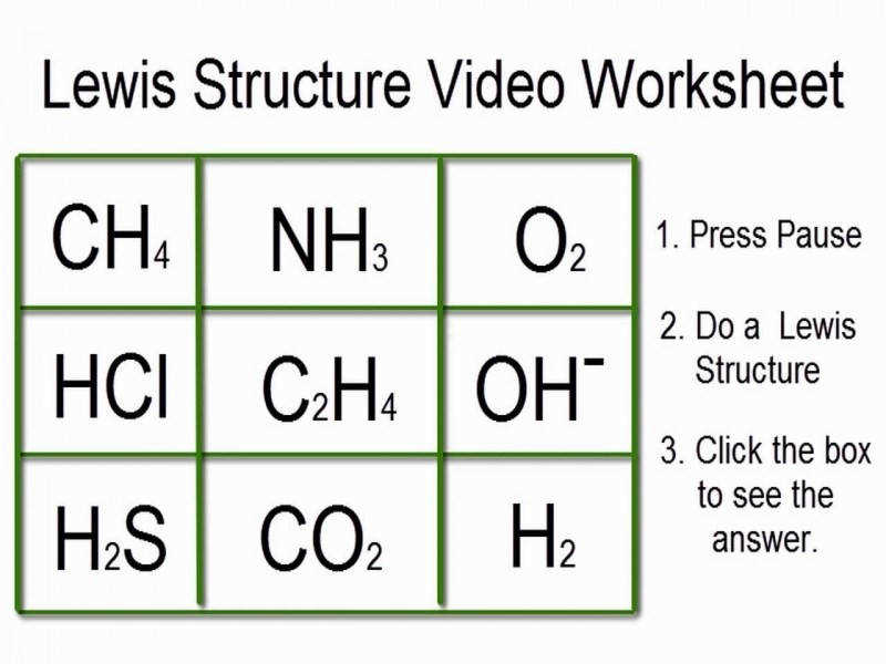 Lewis Structures Worksheet Video Worksheet With Answers – Youtube