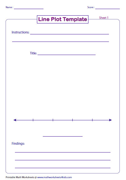 Line Plot Printable Worksheets