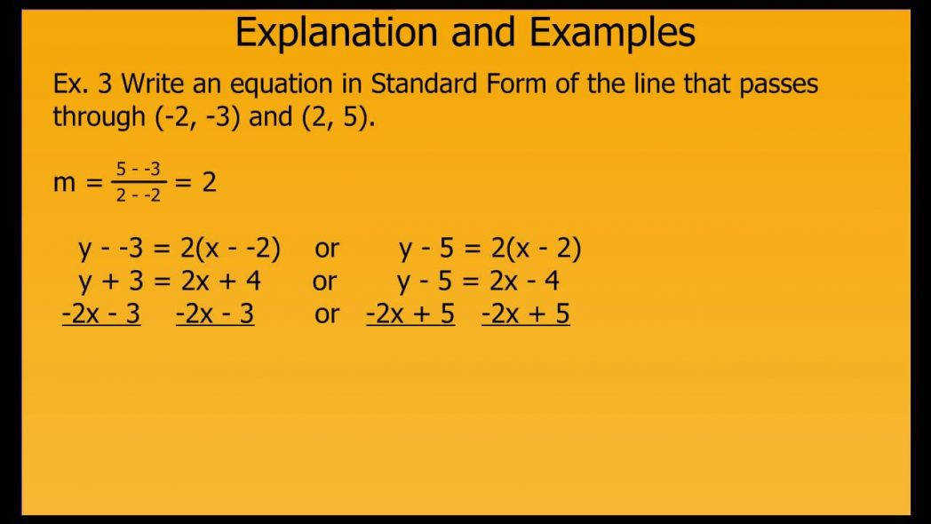 Writing Linear Equations In Standard Form Youtube Equation Word Problems Worksheet Maxresde