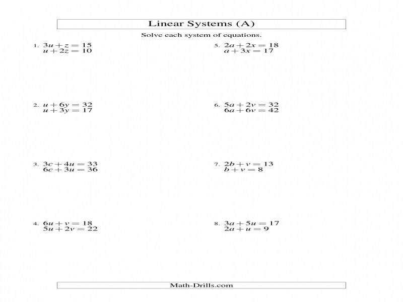 "9 photos of the ""Linear Equation Worksheets"""
