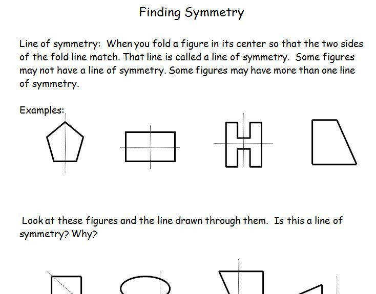 Mirror Symmetry Geometry Lesson Plan and Worksheets Insructions