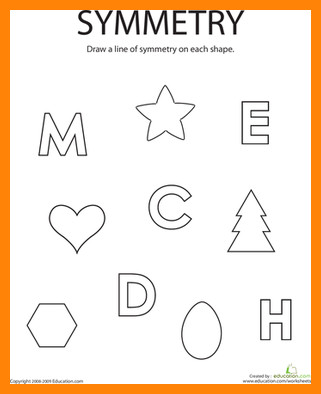 lines of symmetry worksheet drawing lines symmetry geometry first caption