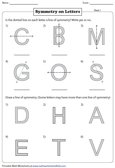 Symmetry English Letters