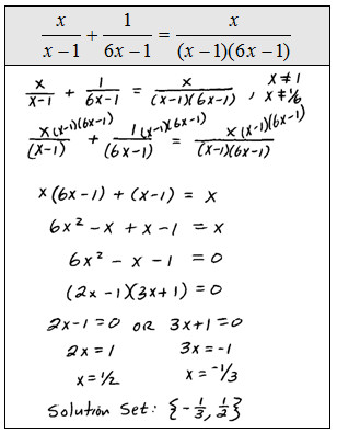 Some literal equations often referred to as formulas are also rational equations Use the techniques of this section and clear the fractions before