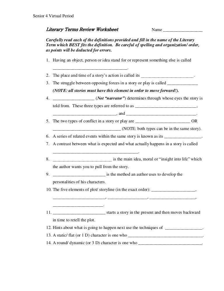 literary devices worksheet homeschooldressagecom