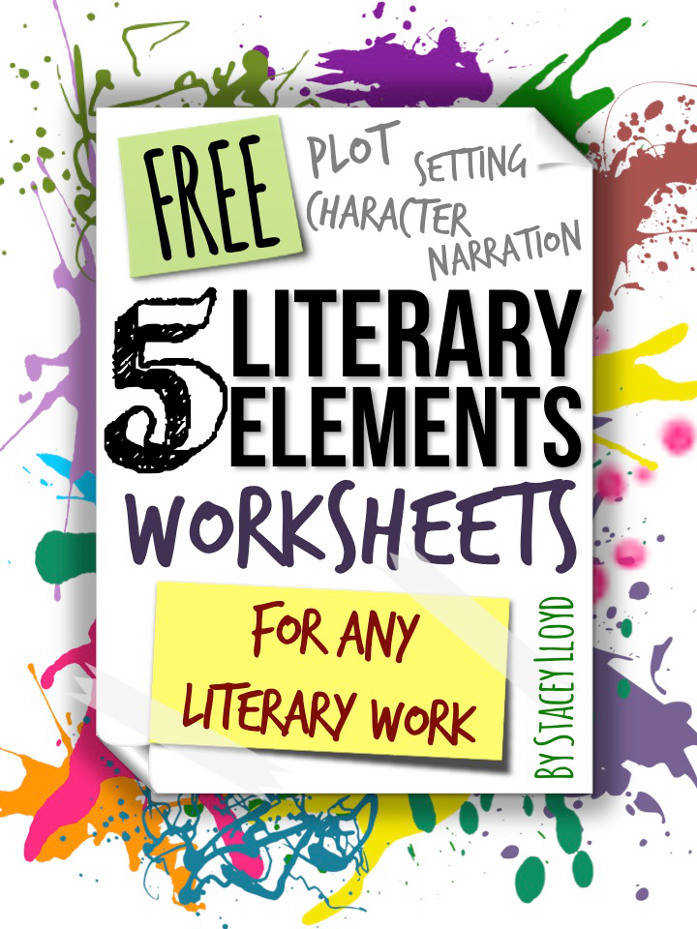 5 FREE worksheets which can be used for analyzing literary elements OR for planning