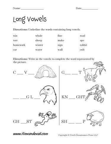 Take a look at these free printable long vowel worksheets for Language Arts students and teachers Help students learn about long vowels