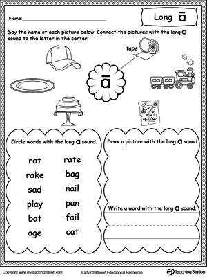 Long A Sound Worksheet