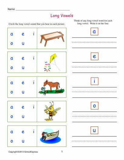Long and Short Vowel Worksheets Book 2 02