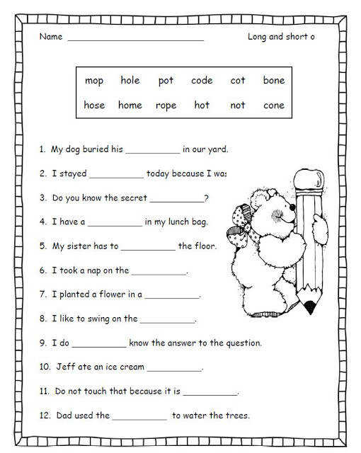 worksheets short are 2nd click Here and for long on Just grade vowel free vowels