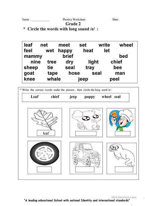 Long E Sound Worksheet Free ESL Printable Worksheets Made By
