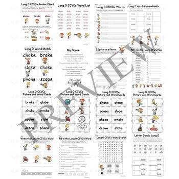 Long O CCVCe Vowel Sound Activity Packet and Worksheets