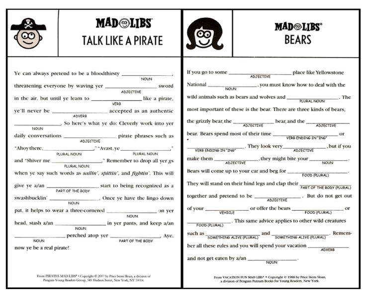 Image result for printable mad libs sheets for adults