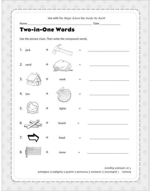 Magic School Bus Inside the Earth The Activity Sheet