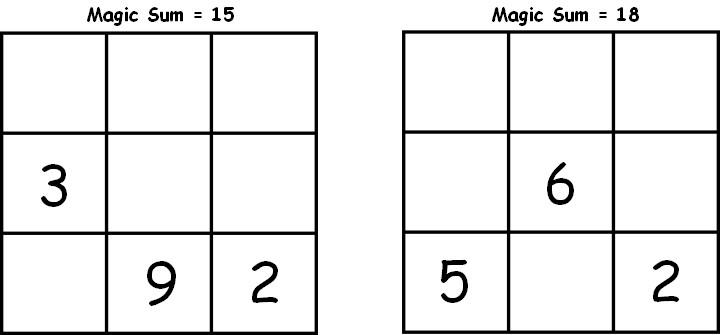 You ll find a variety of magic square puzzles worksheets and games that you can to from this page You can print them in pdf format