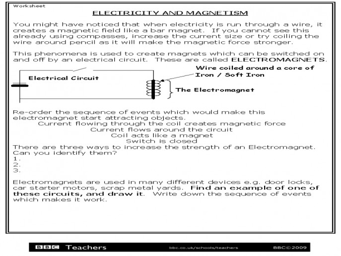Beautiful Electricity And Magnetism Worksheets Newpcairport Electrical Circuits Worksheet Medium size