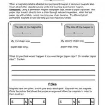 Magnetism Magnets Worksheet 2