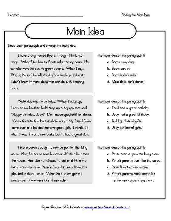 Gallery Bunch Ideas of Main Idea And Details 4th Grade Worksheets With Form