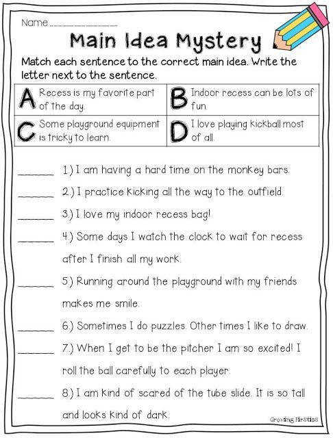 Main Idea Worksheets 4th Grade s Main Idea Worksheets 4th Grade Reading School Teaching Pics 18