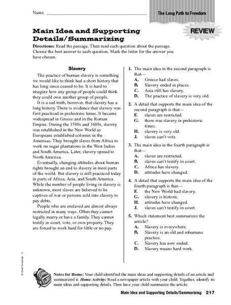 Main Idea Worksheets nonfiction Grades 5 12 The Teachers